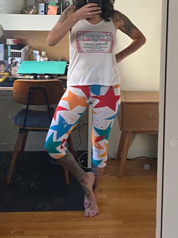 1990s Star Leggings XS