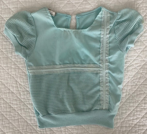 Kids 1980s puff sleeve blouse 4y - image 1