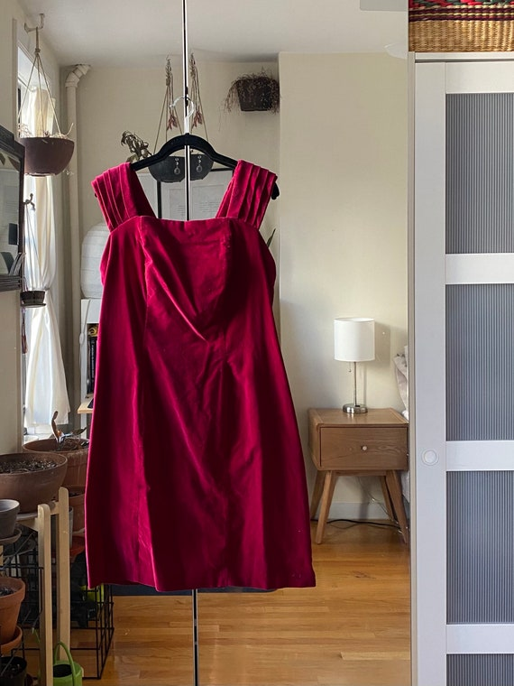 1990s Red Velvet Dress (Plus Size)
