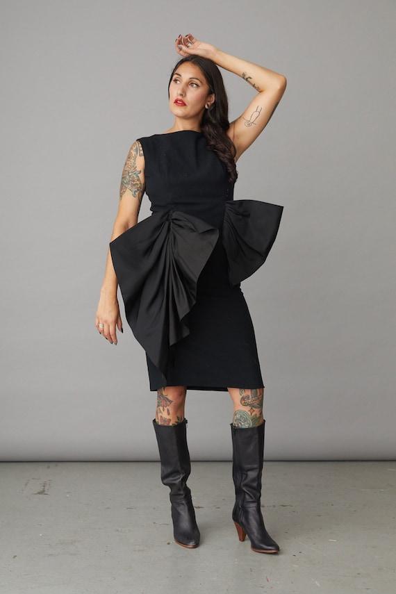 1980s Pauline Trigere Couture Dress Small / Medium