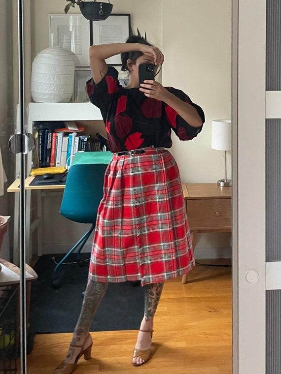 1970s Wool Wrap Skirt S
