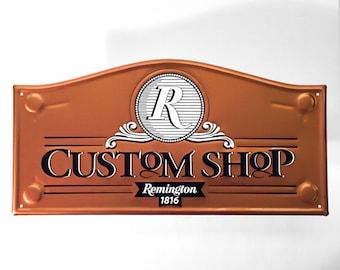 Remington Custom Shop Metal Sign