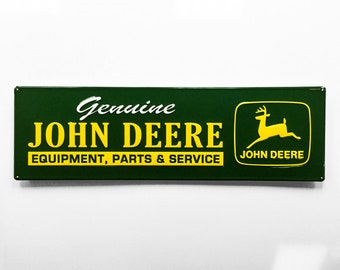 John Deere Green Metal Sign