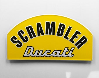Ducati Scramble Embossed Metal Sign