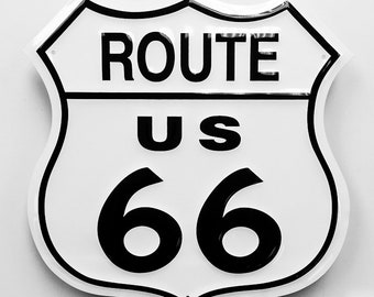 Route 66 Metal Embossed Sign