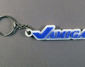 Amiga 3D Printed Keyring Keychain. 80's 90's 16-bit Gift for him or her.