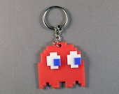 Pacman Ghost  Game Keyring. 3D Printed. Retro 80's Arcade Gift for him or her.