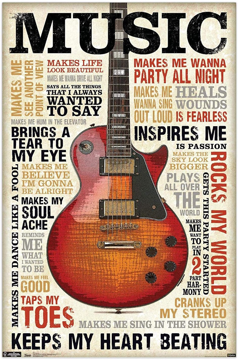 Music Inspires Me Gloss Poster 17x 24 inches