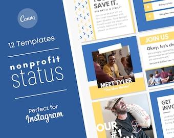 Non-Profit Social Media Templates/ Small Business Branding/ DIY Canva Instagram Templates/ Facebook Marketing Set/ Fundraiser Events
