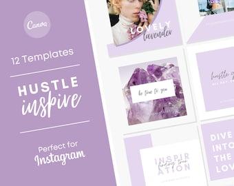 Boss Babe Business Branding/ Boss Lady Instagram Posts/ Women Entrepreneurs Facebook Post Templates/ Women in Business/ Girl Boss Instagram