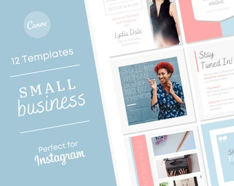 Small Business Branding Instagram Templates PDF Download/ How to Brand Your Business/ Instagram Style/ Facebook Post Marketing Set