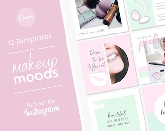Makeup Influencer Instagram Theme/ Beauty Blogger Social Media Post/ All Natural Beauty Product Posts/ Instagram Graphic/ Facebook Feed