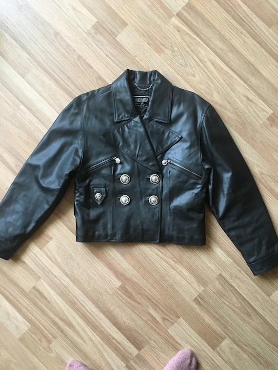 Versus leather jacket