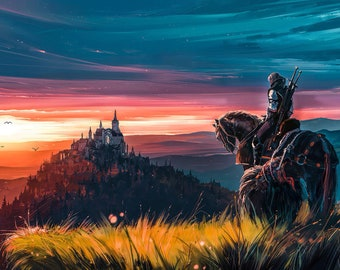 Witcher Painting Etsy
