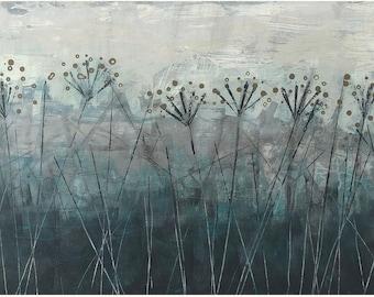 Limited Edition Art Print called 'Hollow' Wall Art, Original Art Print, Artists Print, Contemporary Landscape, Lynne Hollingsworth Art, Teal