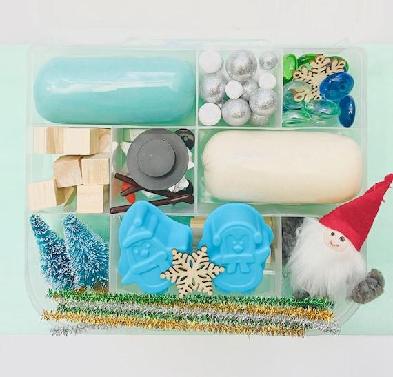 Sensory Kit Playdough Kit Play Dough Kit Sensory Bin Party Favor Sensory Box DINO MINI Playdough Sensory Busy Box