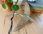 Large Vintage Brass Bird Door Knocker - Goose or Duck