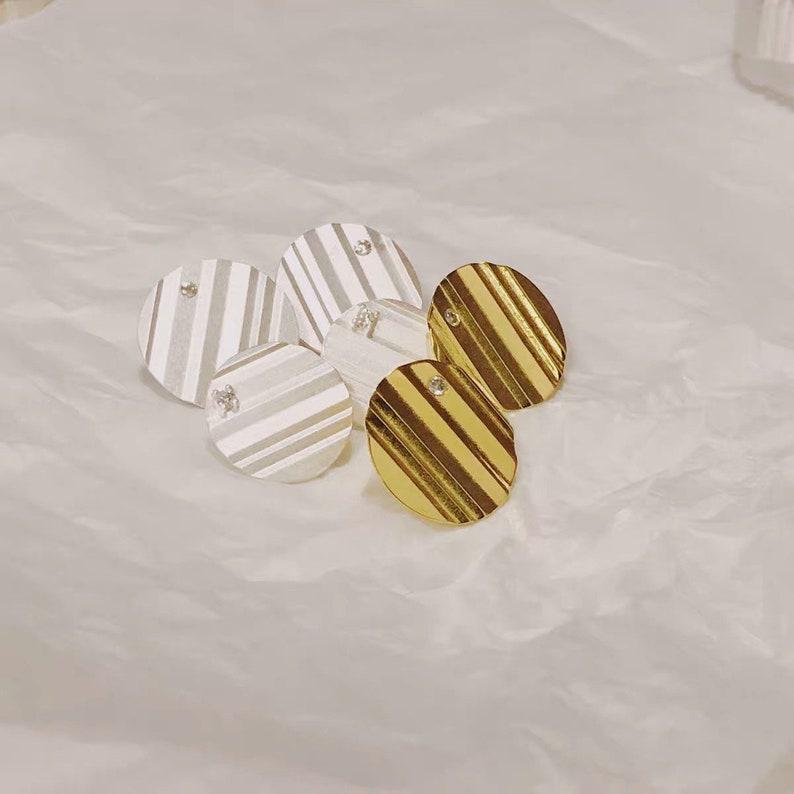S925 Silver Geometric Earrings Wavy Earring Textured Earring Oversized Earrings,Large Stud Earrings,Bold Statement Earrings Circle Studs