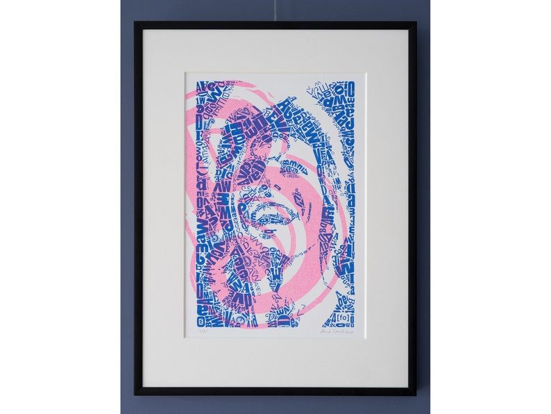 Limited Edition David Bowie Risograph Print edition of 25 image 0