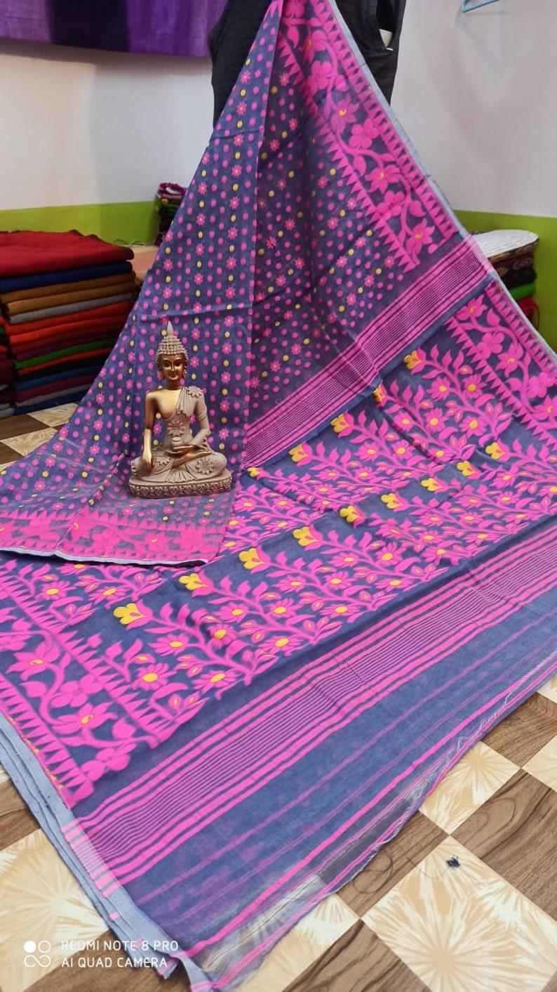 Bengal soft dhakai jamdani saree all over design no bp