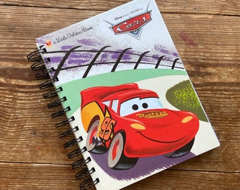 Up cycled MINI Note Book Disney Cars