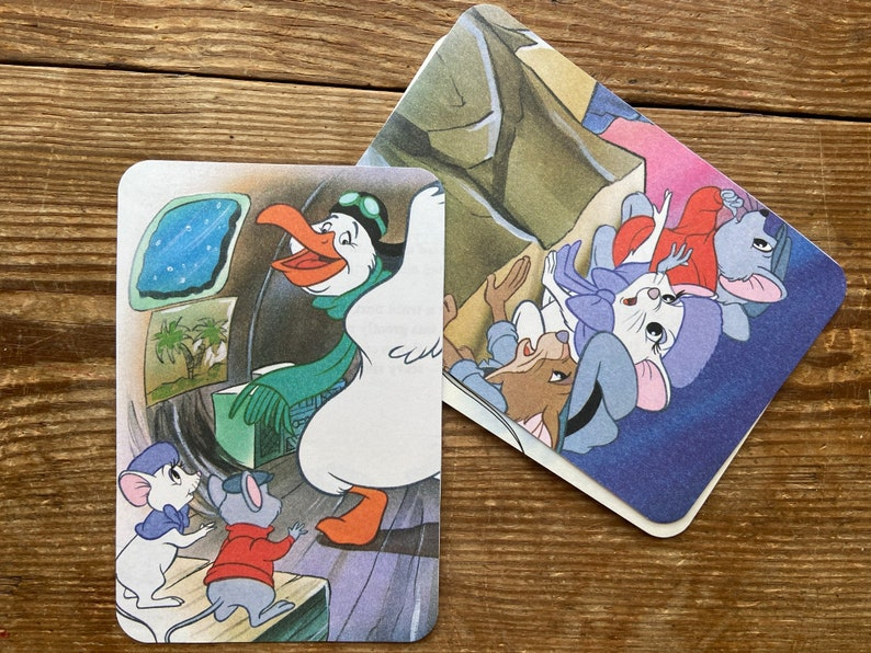 Disney PostcardsThe Rescuers PostcardsHandmade PostcardsStorybook PostcardsRepurposedUpcycled