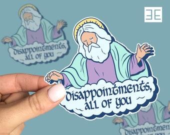Religion God Jesus Funny Humor Sticker Decal