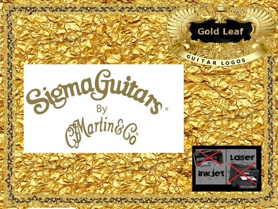 Martin and Co Sigma Guitar Decal Headstock Waterslide Luthier Restoration 135s