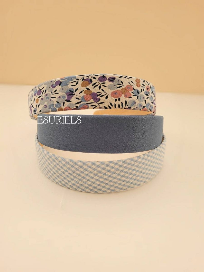 3 pcs floral headbands for women simple thin headbands fabric headband solid blue headbands retro vintage fashion headbands gifts for women