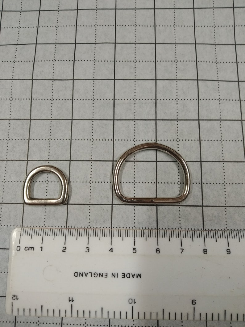 Solid Brass Dee Rings with Nickel plated option 25mm d-ring is weld wire