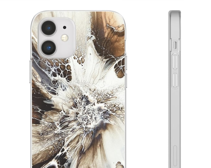 Abstract Marble Flexi Phone Case, Multiple Sizes