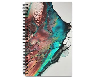 Abstract Marble Diary Art Book Spiral Bound Journal