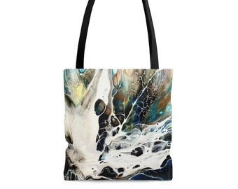 Psychedelic Bloom All Purpose Tote Bag, Multiple Sizes