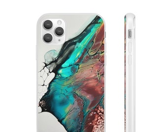 Abstract Marble Gem Tone Flexi Cases Multiple Sizes