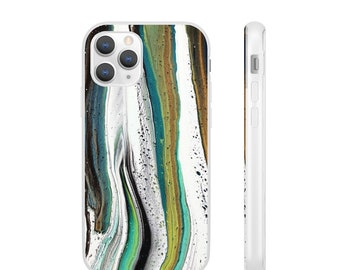 Abstract Waves Flexi Phone Case, Multiple Sizes
