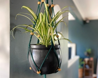 Plant Hanger with Beads and Tassel