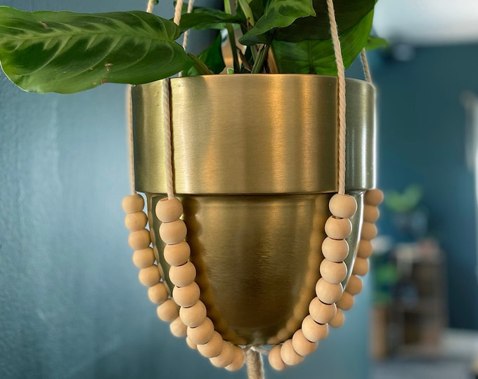 Featured listing image: Minimalist Macrame Plant Hanger