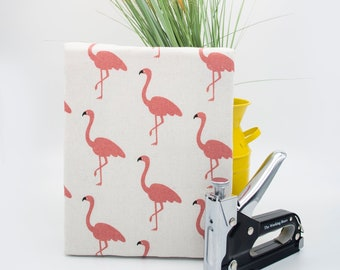 Up-cycled Flamingo Acoustic Treatment Wall Panel, Sound Proofing, Sound Diffuser, Home Theater, Noise Reducer, Eco Friendly