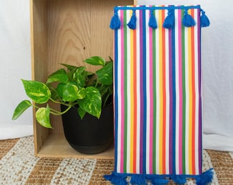 Up-cycled Striped Acoustic Treatment Wall Panel