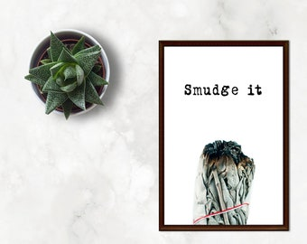 Smudge it Funny Bohemian Chic Wall Art Print