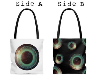 Double Sided Galactic Eye All Purpose Tote Bag