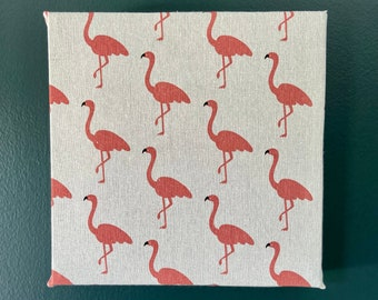 Up-cycled Flamingo Custom Art Acoustic Treatment Wall Panel, Sound Proofing, Sound Diffuser, Noise Reducer, Eco Friendly