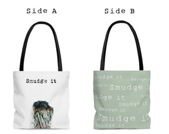 Double Sided Smudge It Bohemian Chic All Purpose Tote Bag