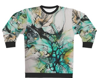 Abstract All over Print Marbled Unisex Sweatshirt
