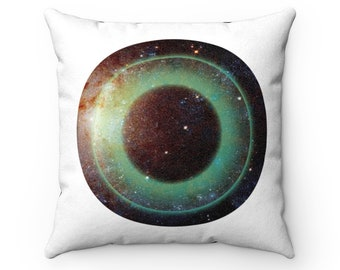 Galactic Black Hole Faux Suede Square Pillow Case Double Sided
