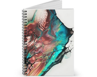 Abstract Marble Diary Art Book Spiral Bound Journal- Ruled line