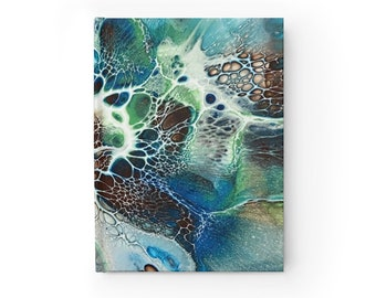 Abstract Diary Notebook, Ruled Line Journal, Casewrap Binding
