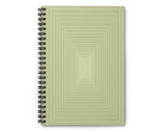 Minimalist Sage Green Rectangle Notebook Spiral Bound Journal
