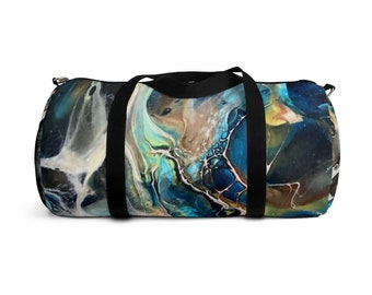 One of a Kind Abstract Marble Duffel Bag