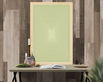 Infinity Minimalist Rectangle Line Print Wall Art